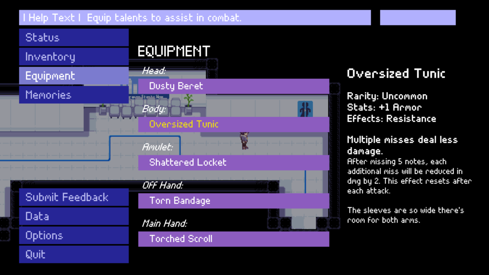 Nocturne (TBA) New equipment menu from the latest build of the game.