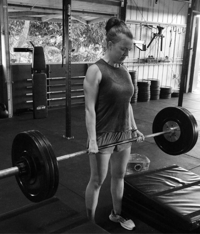 Lacey Nailing the deadlifts, look at those arms.