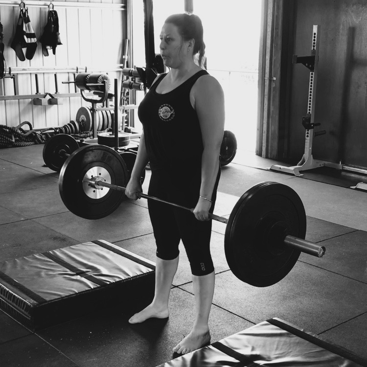 Tanya, Training Hang Power Cleans.