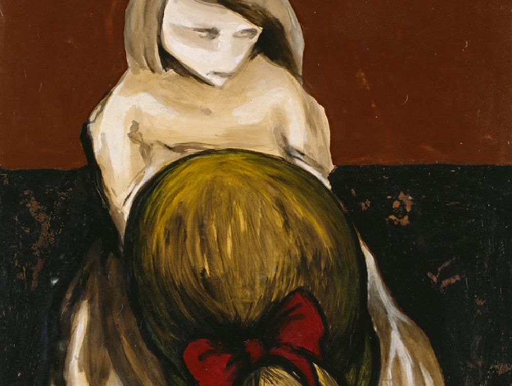 Detail from  Two girls in the street © 1957 Joy Hester