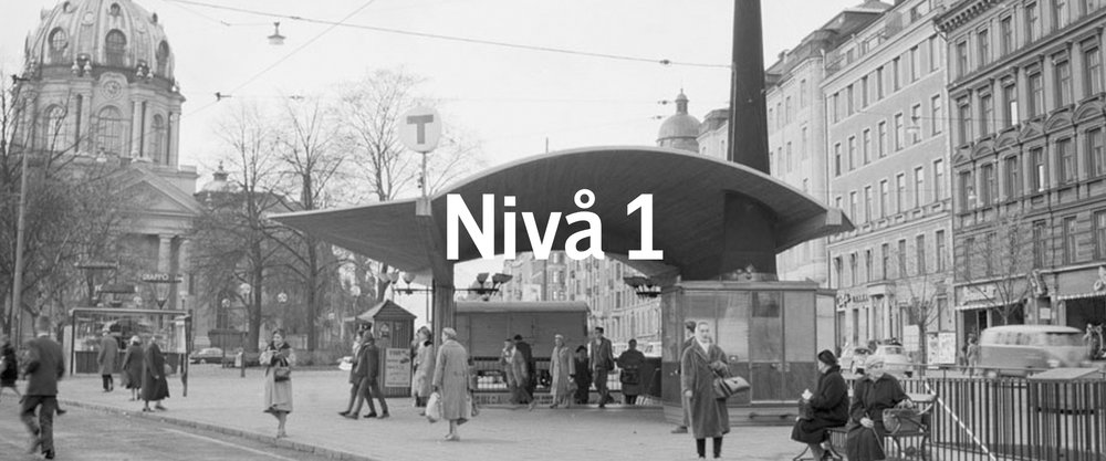 Den gamla tunnelbanenedgången vid Odenplan. Foto: Spårvägsmuseet