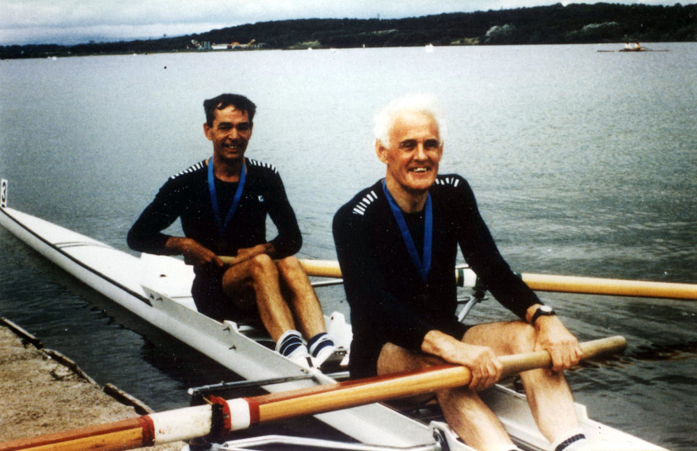 John Northridge (nearest camera) and Maurice Rayner