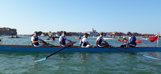 Querini boat crew - Mike Baldwin, Alan Foster, Richard Metcalfe, Chuck Lowther & Jeremy Hudson