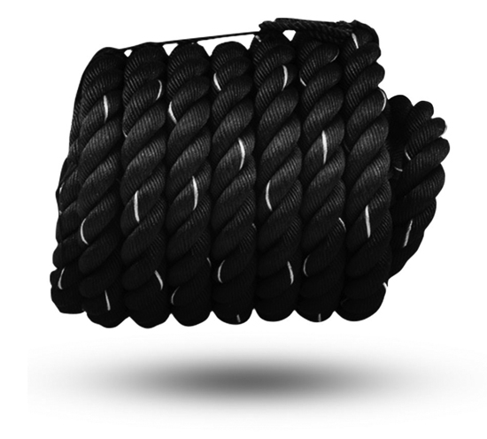 Dacron Battle Rope - 40mm x 10mtr (Black/Green)** 1 Battle rope SOLD **Code YY