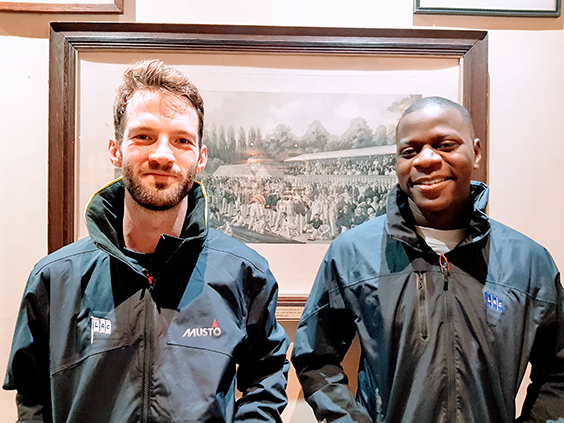 Brad (on the left) is wearing the  BR1 Inshore Jacket  and Louron is wearing the  Sardinia BR1 Jacket