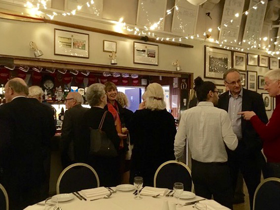 Some of our group enjoying the monthly Irregulars' Dinner
