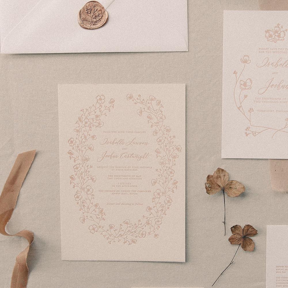hydrangea invitation letterpress botanical illustration.png