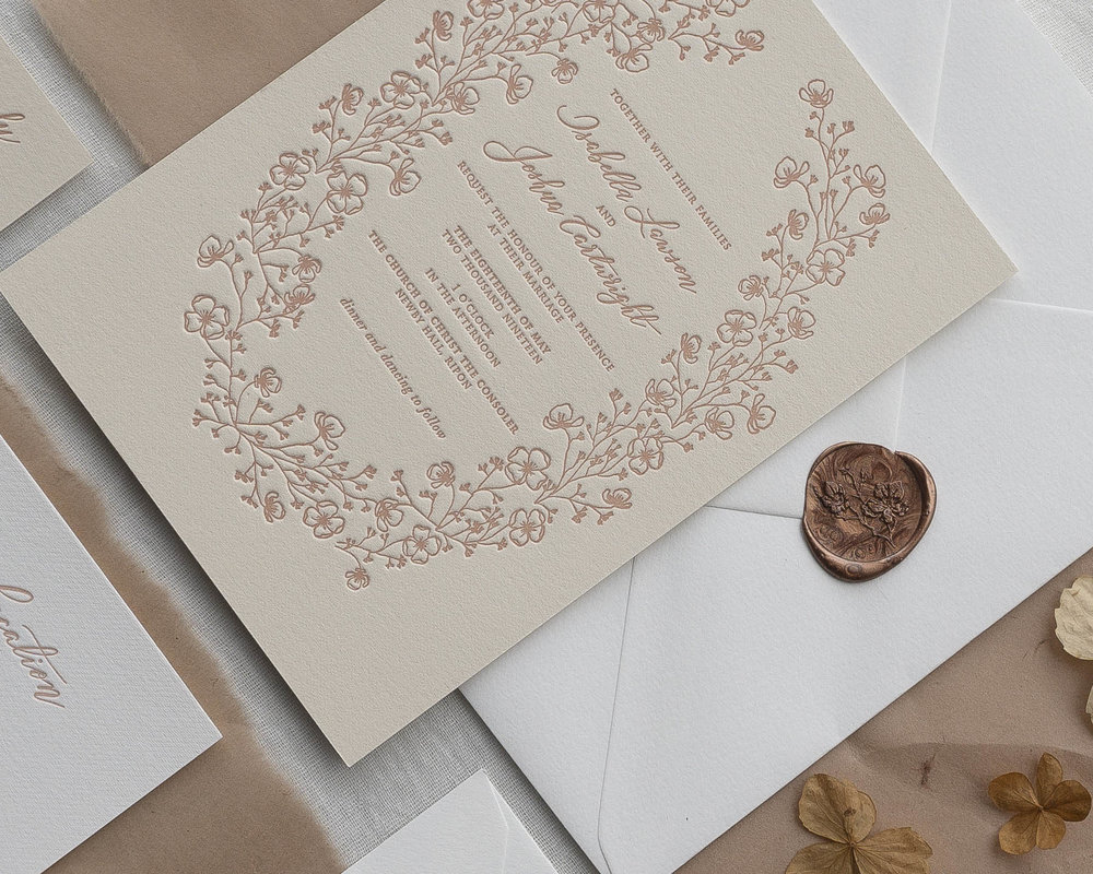Phylecia Sutherland Intricate botanical letterpress invitation.jpg
