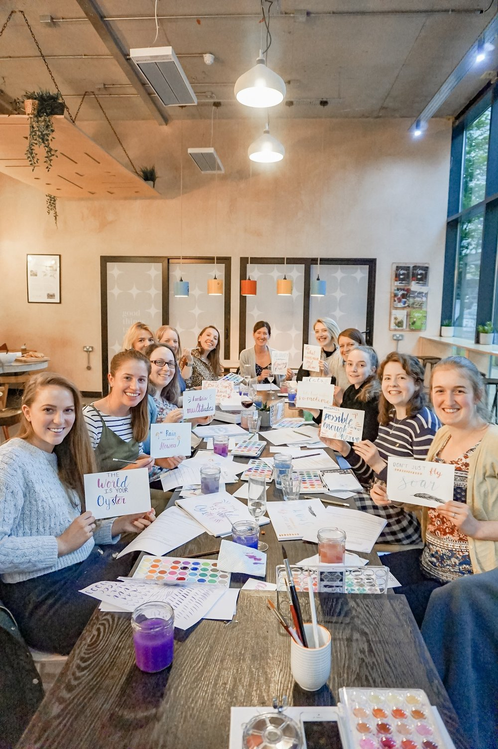 watercolour brush lettering workshop leeds yorkshire 1