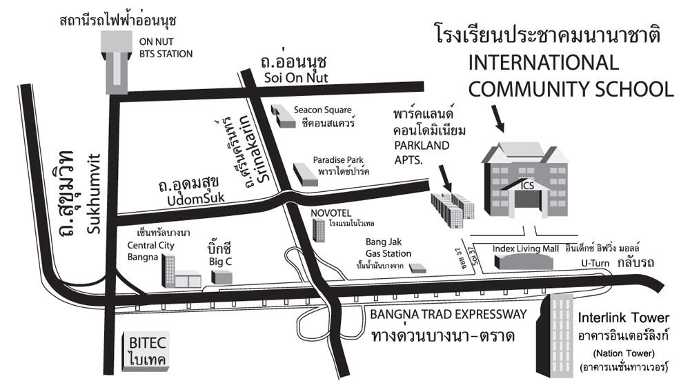 Parkland Campus Map.Location International Community School International Community