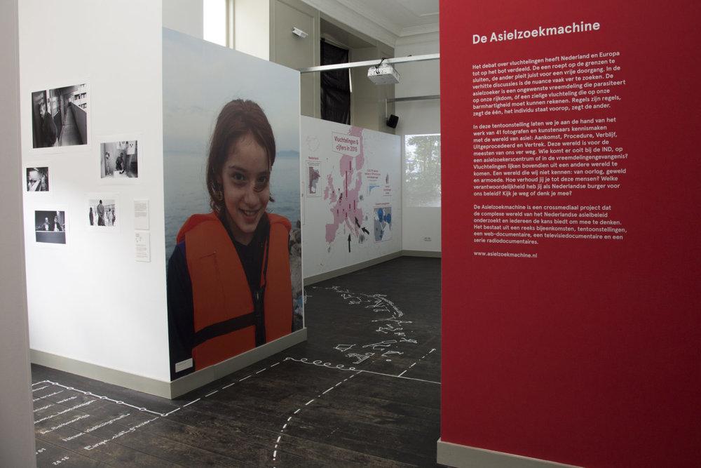 De Asielzoekmachine was van 01.04.16 t/m 07.01.17 te zien in Humanity House, Den Haag.