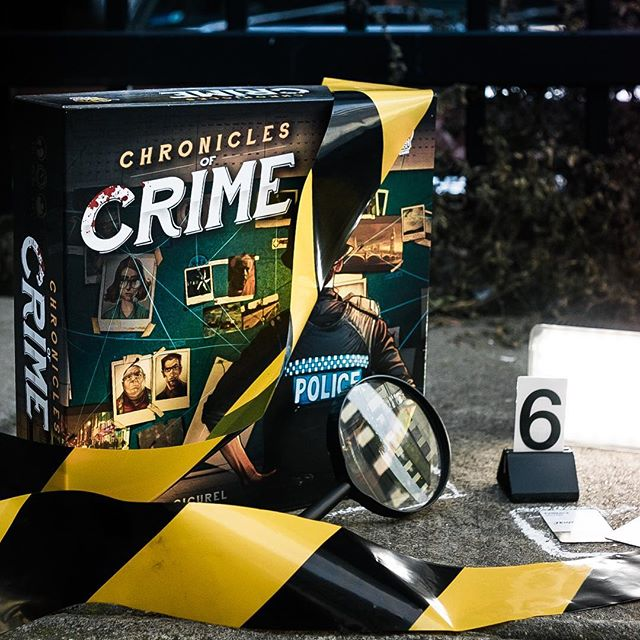 Have you ever walked past a group playing a #boardgame and then literally doubled back to find out what it is? That's what happened with me and #ChroniclesOfCrime. 🕵️‍♀️ This #cooperative game by #LuckyDuckGames is a truly innovative experience for 1-4 aspiring detectives. Follow the link in my bio for my conversational review with @markh110! 😀 . . . . #boardgame #boardgames #sherlockholmes #murdermystery #tabletopgames #boardgamegeek #boardgamesofinstagram #boardgameart #boardgamephotography #kickstartergames #boardgamereview #boardgamereviews