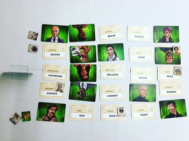 I love that @markh110 and I can play #Codenames, just the two of us! 😀 🙌 #CodenamesDuet is as clever and witty as its older brother, but the co-operative back and forth makes it even more engaging. No more fighting for who gets to be #spymaster, because everyone gets to give and get clues! . . . .  @czech_games_edition #czechgames #czechgamesedition #partygames #wordgames #cardgames #boardgames #boardgame #boardgaming #boardgamenight #gamenight #boardgamegeek #analoggames #tabletop #tabletopgames #tabletopgaming #bgg #brettspiel #boardgamephotography