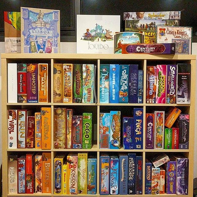 Rainbow games 🌈 😍 I didn't get any work done today, but at least I procrasti-sorted some of my collection! 😂 How do you organise your board game shelves? . . . . #shelfie #gameshelfie #boardgameshelfie #rainbow #boardgames #boardgame #boardgaming #boardgamenight #gamenight #boardgamegeek #analoggames #tabletop #tabletopgames #tabletopgaming #bgg #brettspiel #beziergames #colourspectrum #colourwheel #ikea #kallax #ikeakallax #boardgameroom #gameroom