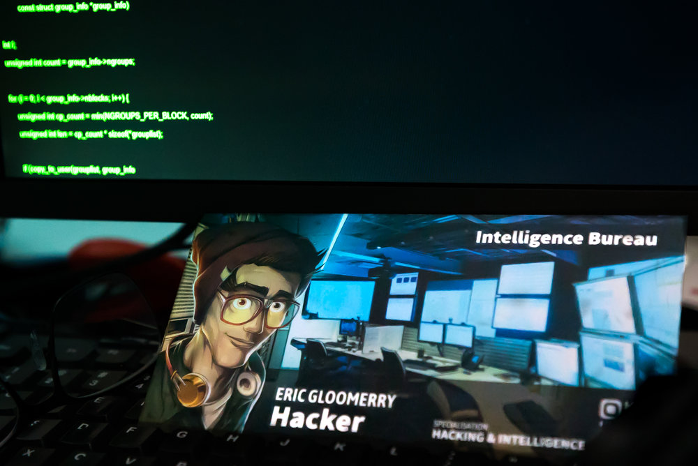 The Hacker - one of four specialists you can call on for help