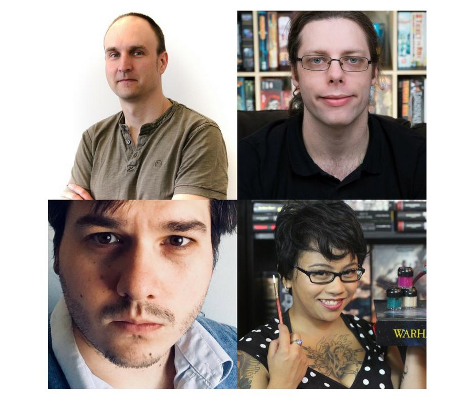 Owen Duffy, Matt Thrower, Teri Litorco, & Richard Jansen-Parkes - authors of  The Board Game Book
