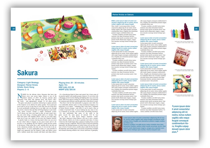 A sample page from  The Board Game Book