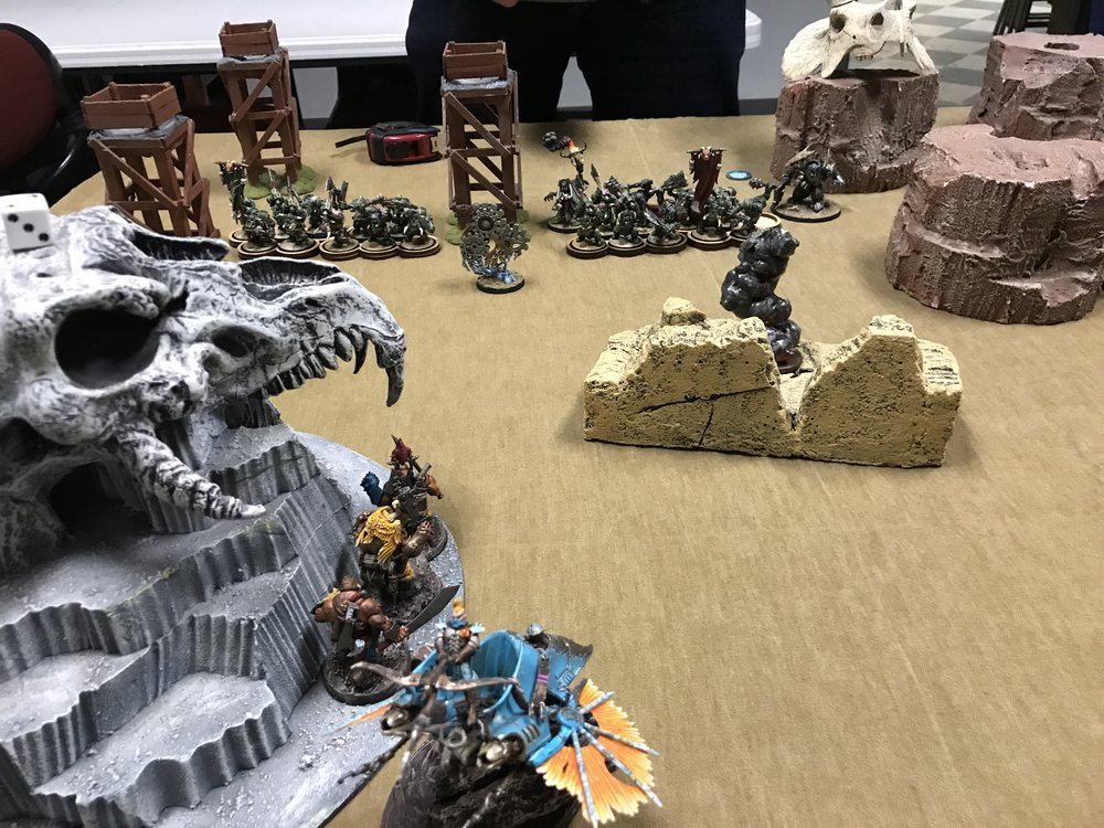 Grubhauler and Maneaters step out from hiding and send the first volley.