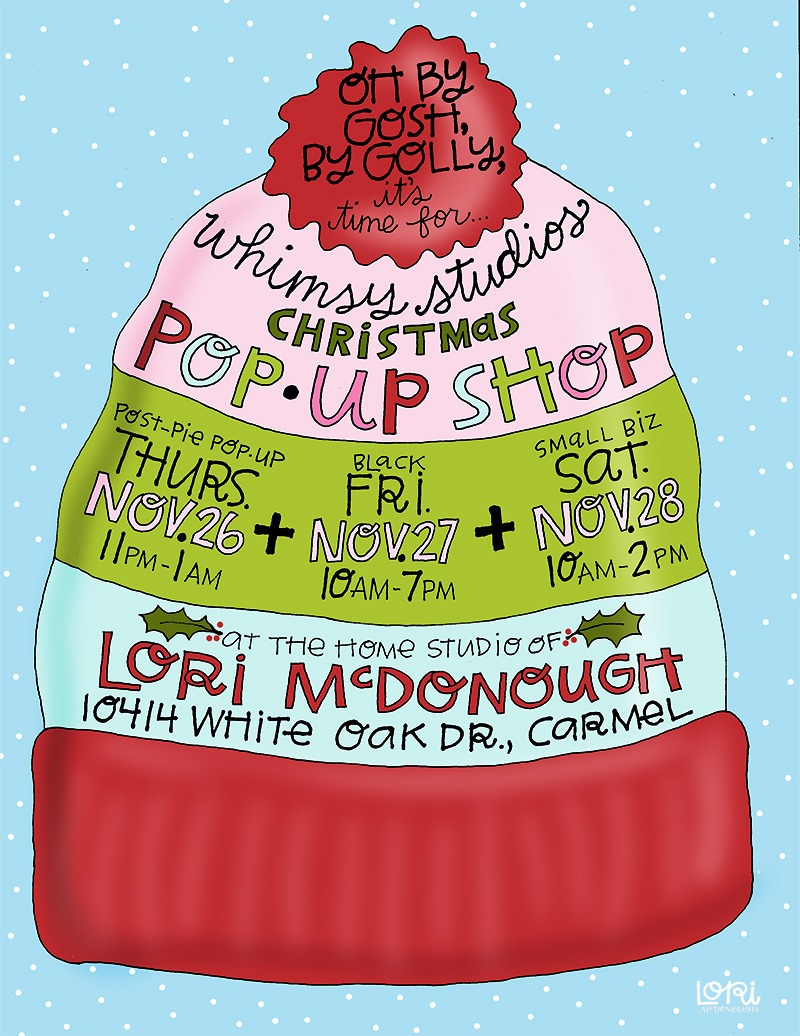 Christmas Pop Up Shop Invitation