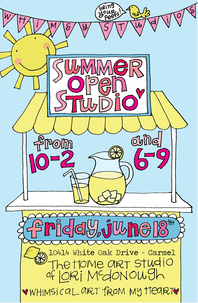 Summer Open Studio Invitation