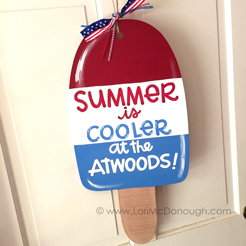Personalized Popsicle Door Hanger