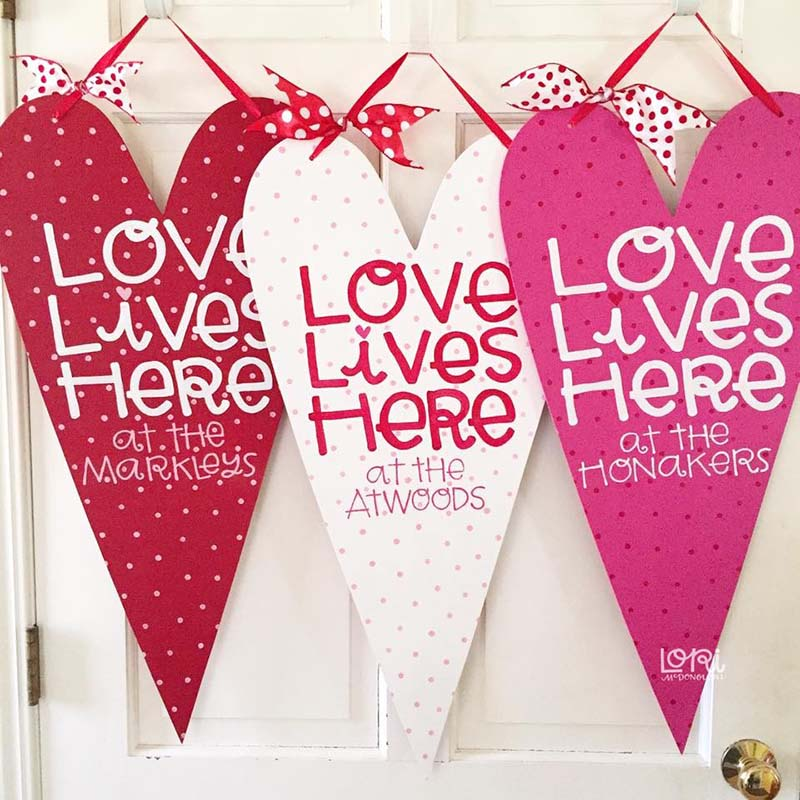 Personalized Valentines Door Hanger