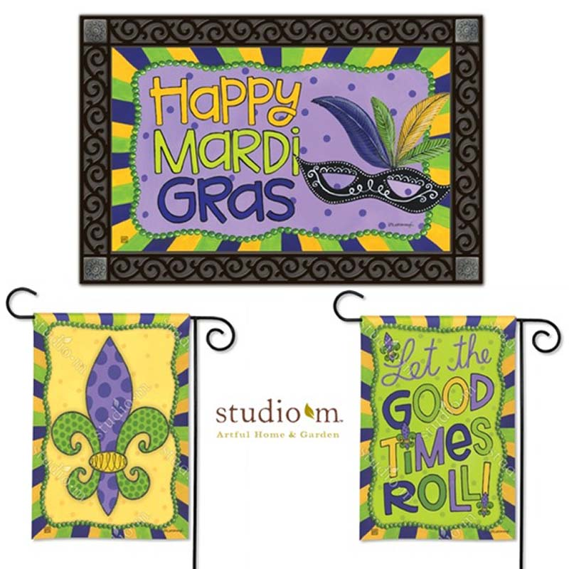 Mardi Gras Series Welcome Mat