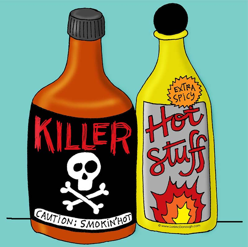 Killer and hot Stuff Illustration