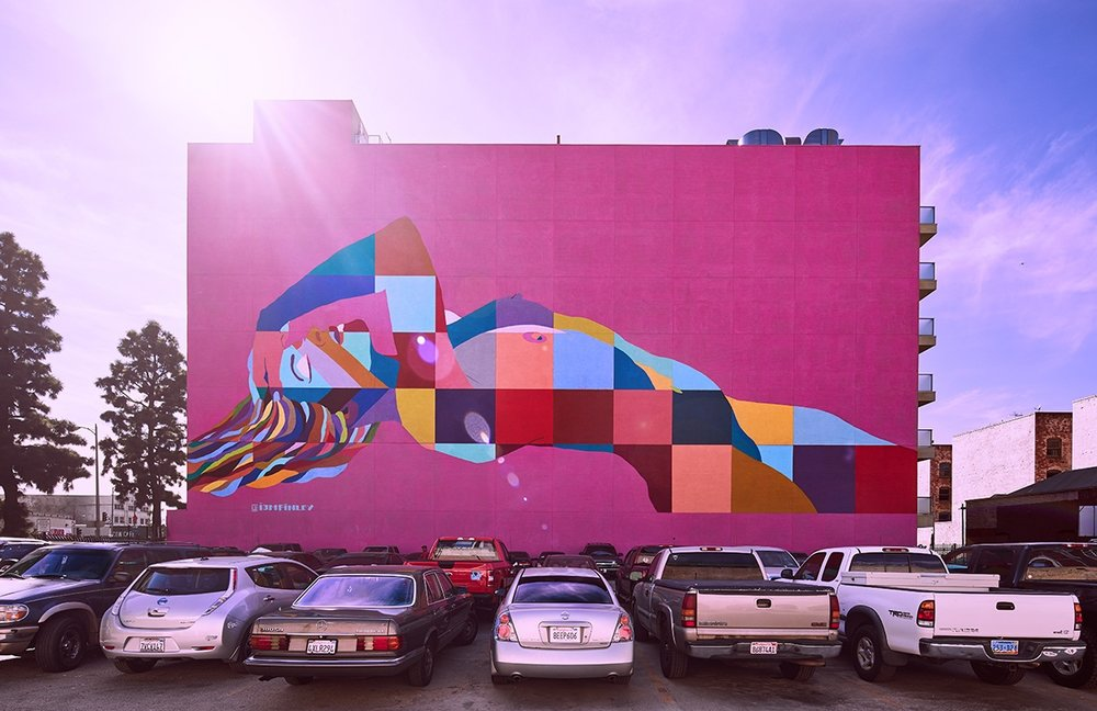 Divine Feminine Mural LA photo by Sam Frost