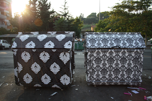 Wallpapered Dumpsters Rome