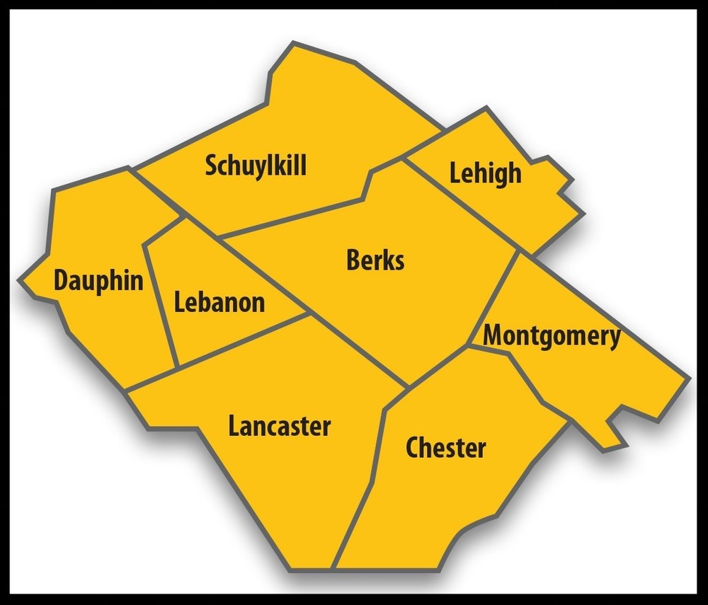 Bertolet Construction Corporation serves these counties within Pennsylvania. -