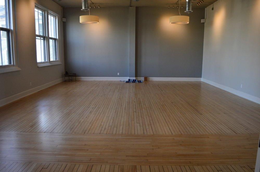 Interior photo of the main studio space