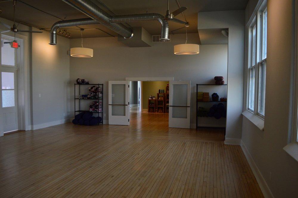 Indoor photo of the main studio space