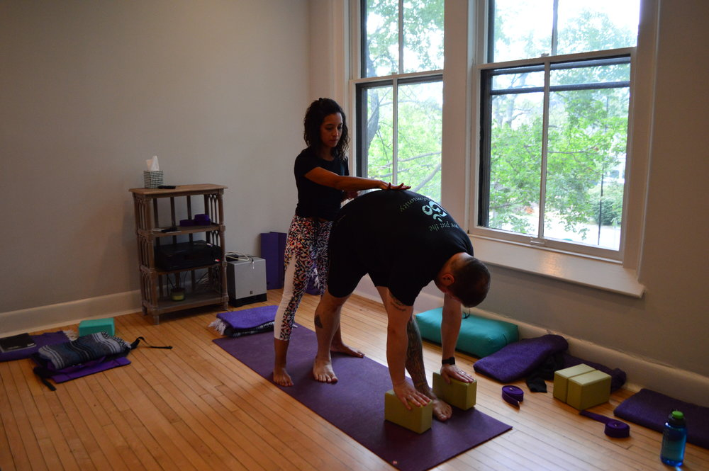 Photo of a training session at Inner Spring Yoga