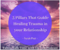 Dr. Eva Brown and I talk about the three pillars that guide healing trauma in relationship.  Link Here .