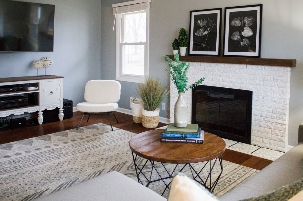 Living room designed by an online interior designer, stylish living room, abbreviated design designed this living room with online design services,
