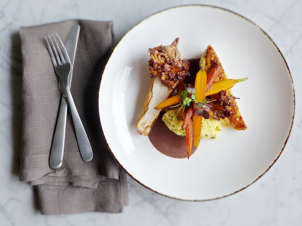 roasted chicken with country spoon bread and a violet mustard sauce copy.jpg