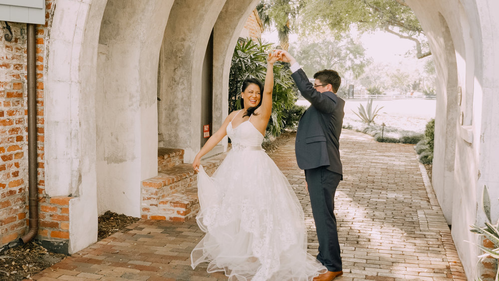 LEE + MABEL - The wedding of Lee and Mabel, captured at Casa Feliz in Winter Park, FL