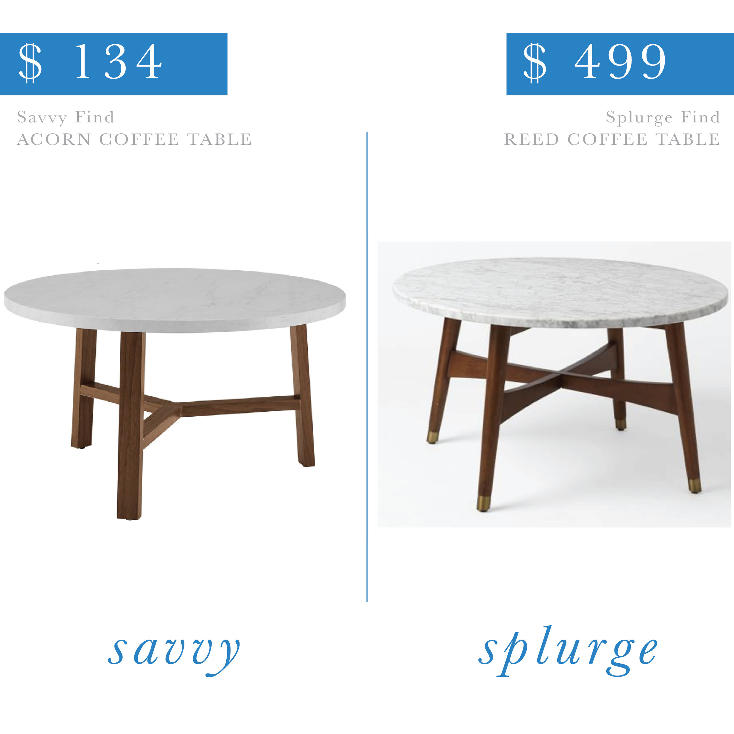 Marble And Wood Coffee Table Follow The Find