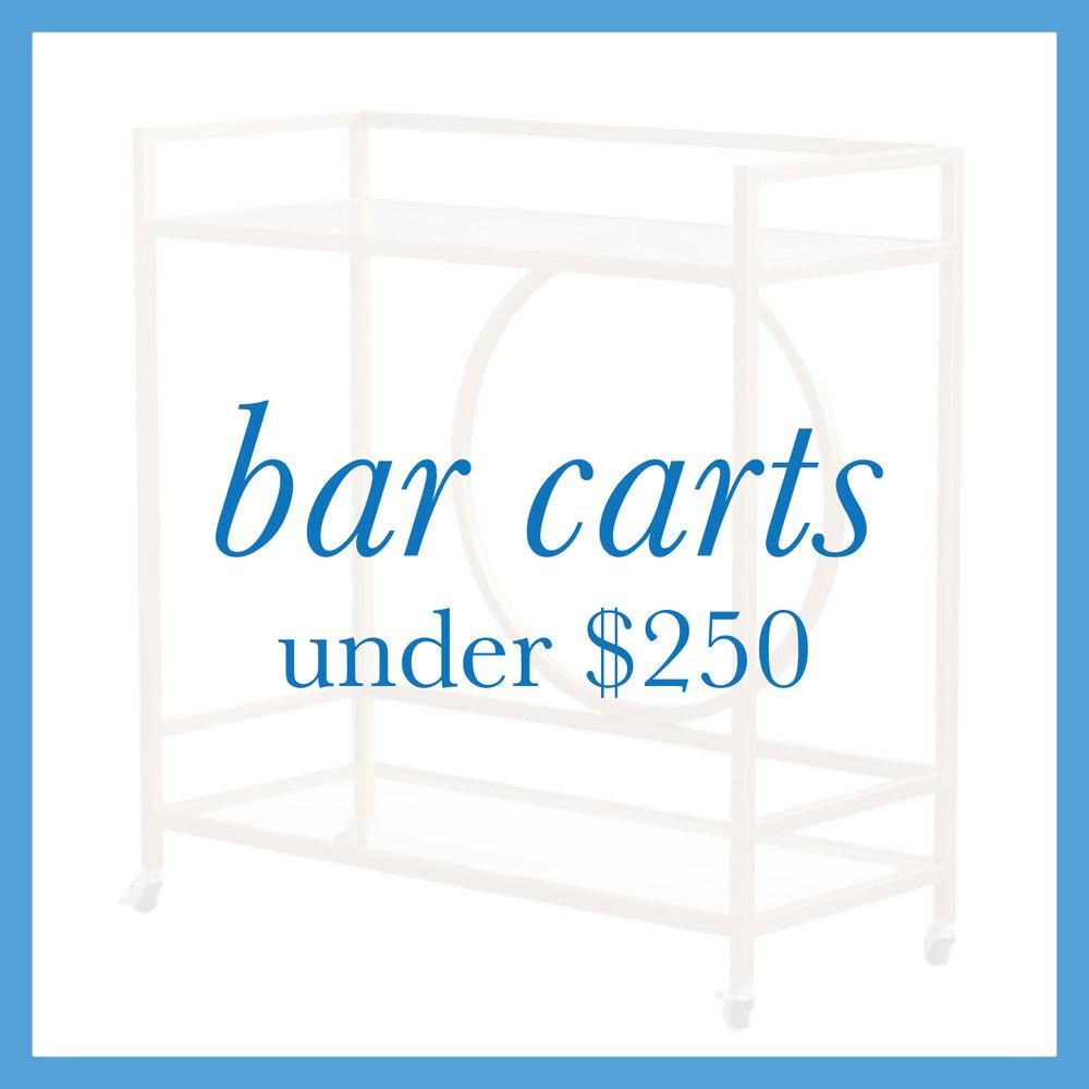 Bar Carts Under $250