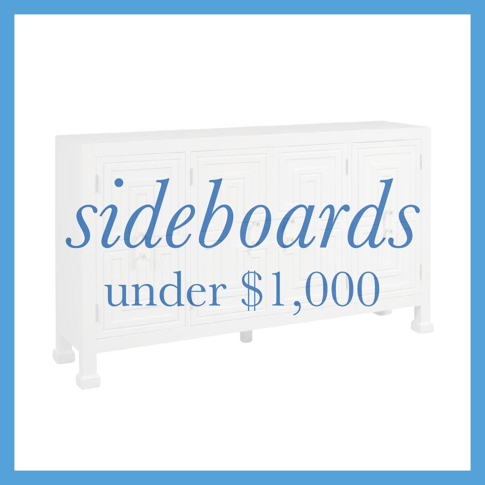 Sideboards under $1000