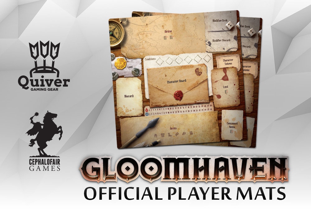 Gloomhaven player mats   The best board game and game mat of all time come together for an epic experience!