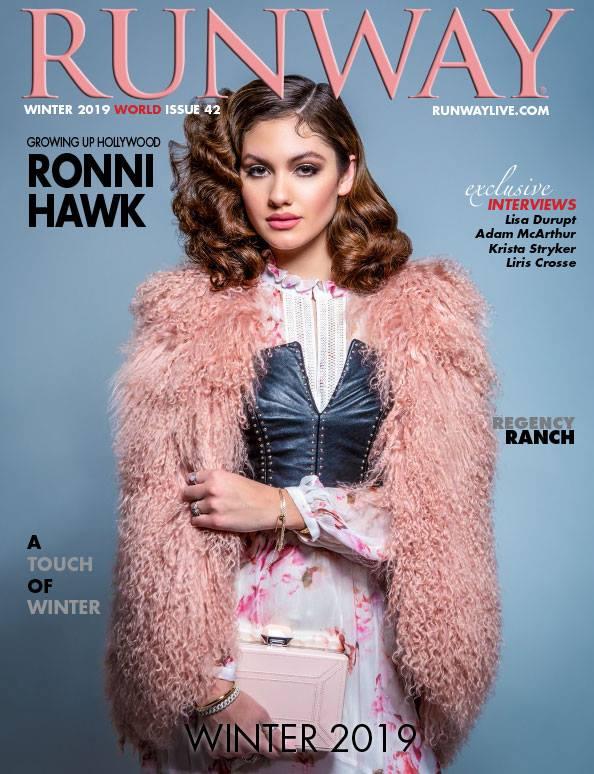 RUNWAY MAGAZINE WINTER 2019 ISSUE 42    RONNI HAWK   2019