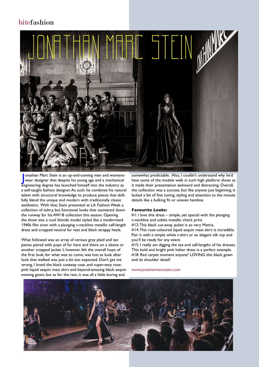 BITE MAGAZINE AUTUMN/WINTER 2018 ISSUE 23   2018