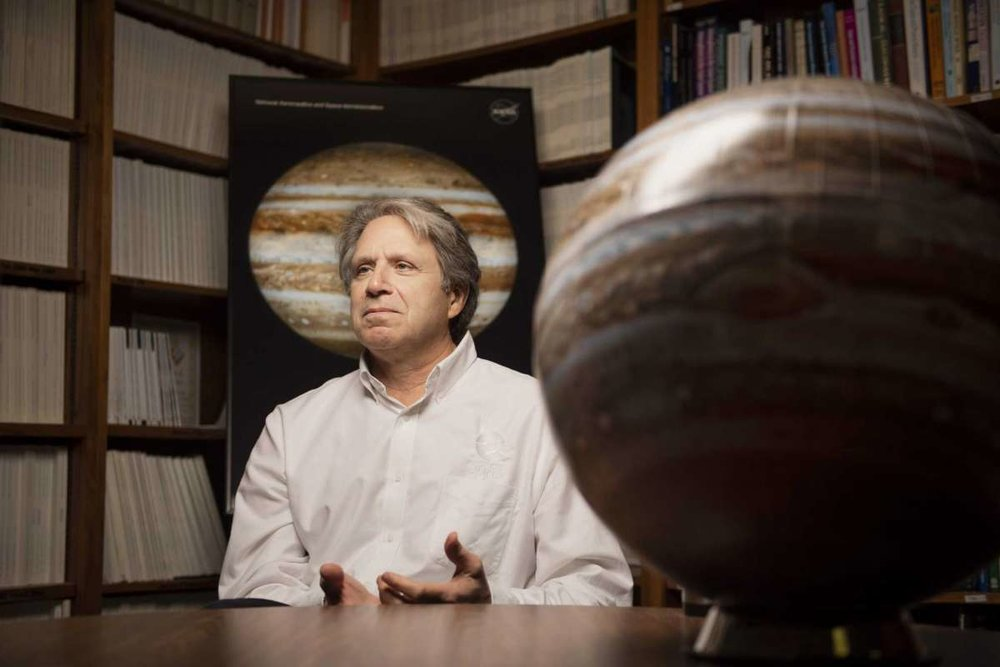 PHOTO: Carlos Javier Sanchez/San Antonio Express-News     Scott Bolton, the lead investigator for NASA's Juno mission to study Jupiter, is interviewed at his office at the Southwest Research Institute.
