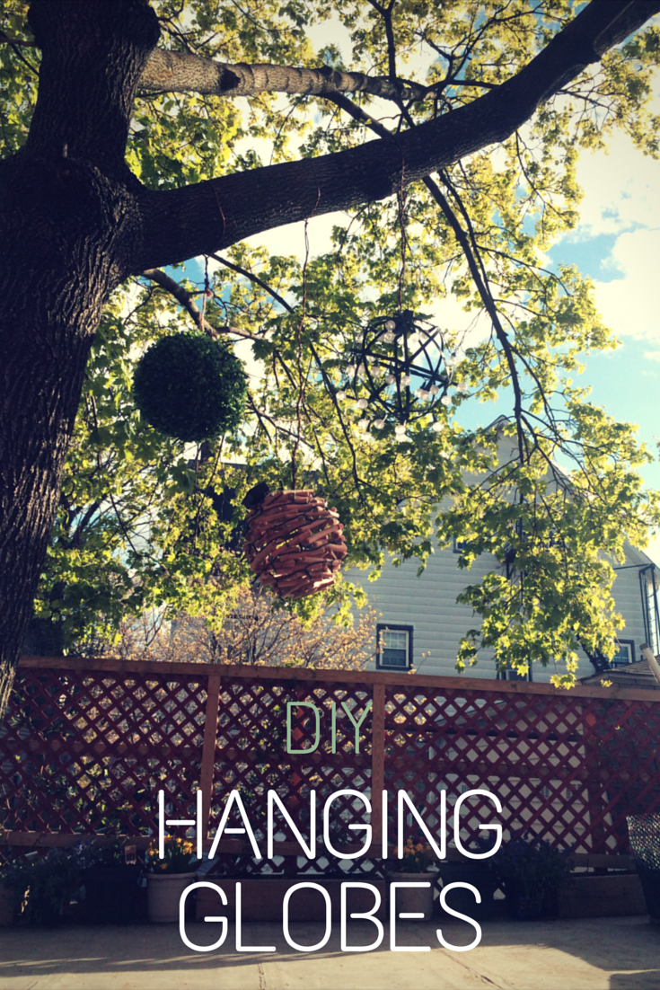 DIY tutorial to make your own hanging garden globes with solar powered mini bulbs.