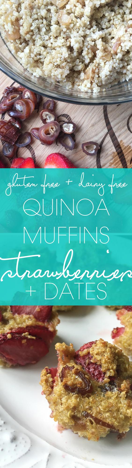 quinoa muffins with strawberries