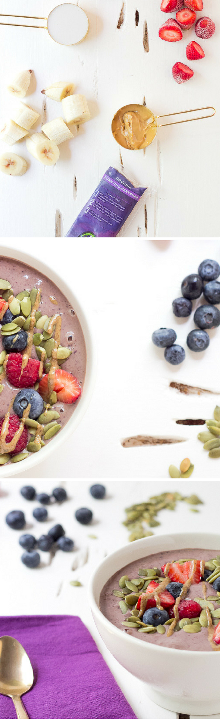 Almond Butter Acai Smoothie Bowl