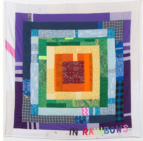 "In Rainbows , Joey Veltkamp - 68""x68"" - Fabric, thread, batting - $500 starting bid"