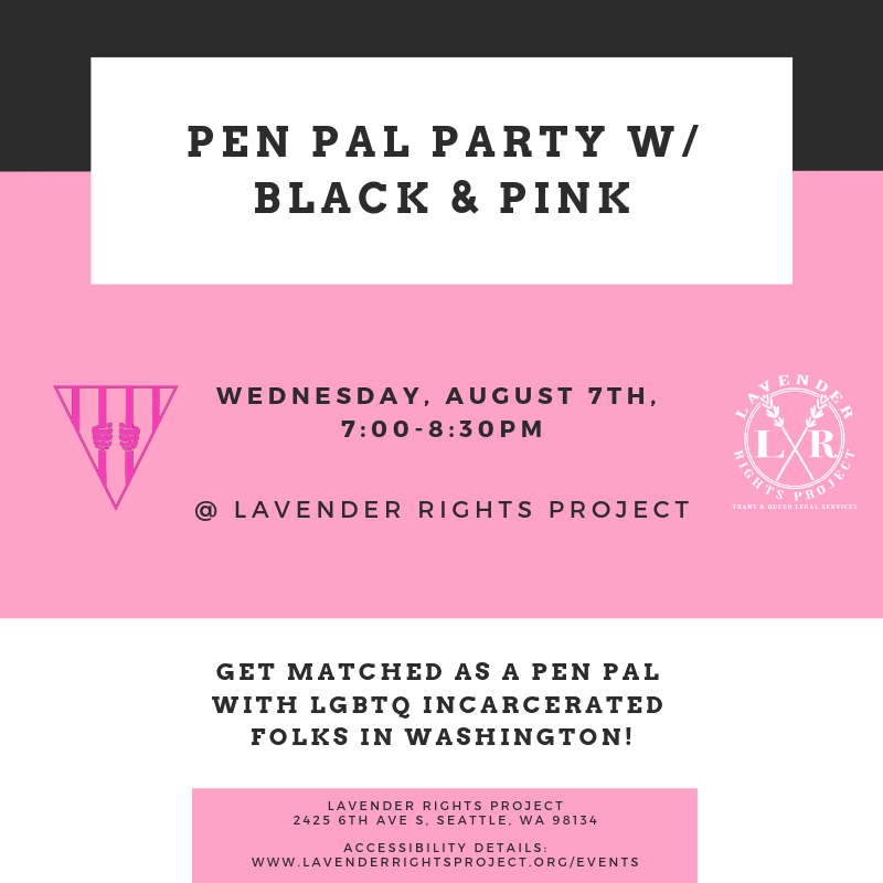 Pen Pal Party w/ Black & Pink — Lavender Rights Project